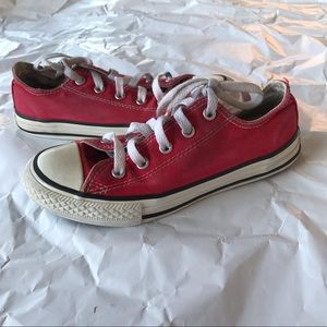 Red converse used youth size 1